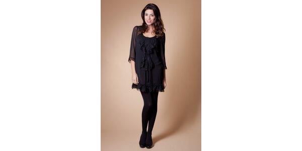Dámské černé šaty Poete