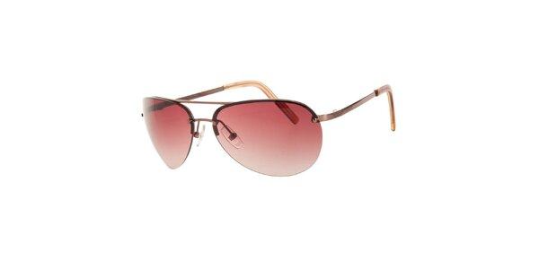 Dámské červeno-hnědé sluneční brýle Michael Kors