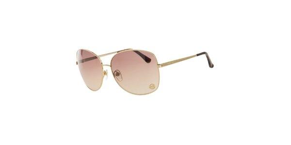 Dámské zlaté sluneční brýle Michael Kors