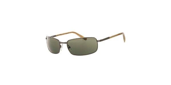 Dámské tmavé hranaté sluneční brýle Michael Kors