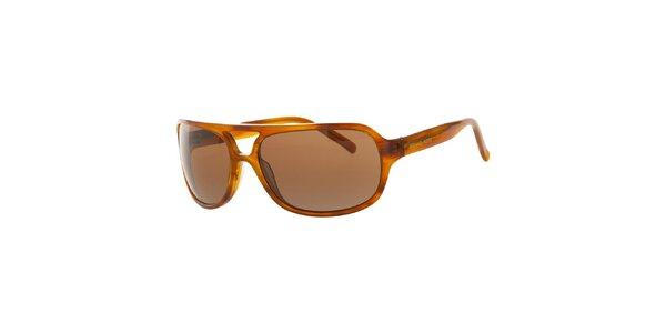 Pánské jantarové žíhané sluneční brýle Michael Kors