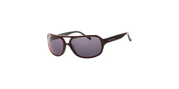 Pánské tmavě červené sluneční brýle Michael Kors