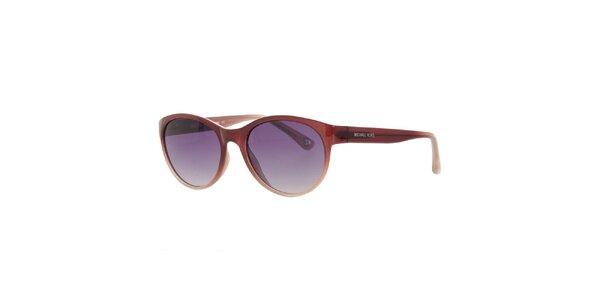 Dámské hnědé sluneční brýle Michael Kors s fialovými sklíčky