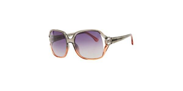 Dámské dvoubarevné sluneční brýle Michael Kors s fialovými sklíčky