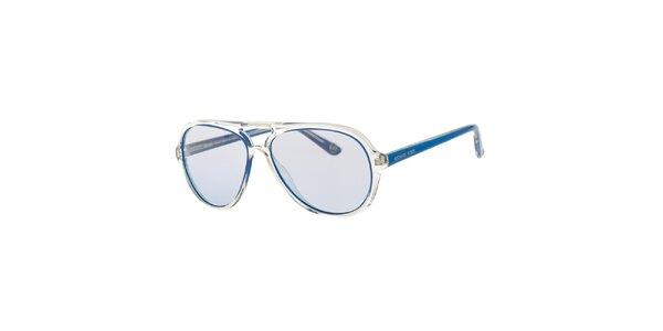 Pánské modro-transparentní sluneční brýle Michael Kors