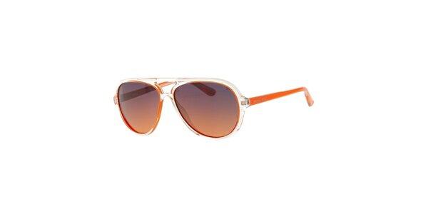 Pánské oranžovo-transparentní sluneční brýle Michael Kors