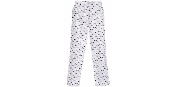 Dámské dlouhé pyžamové kalhoty s potiskem psíků MaybeBlu
