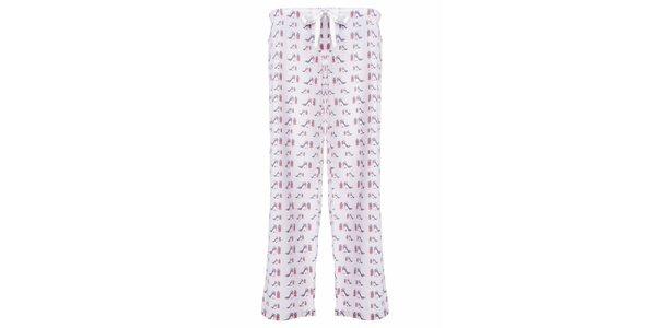 Dámské dlouhé pyžamové kalhoty s potiskem lodiček MaybeBlu