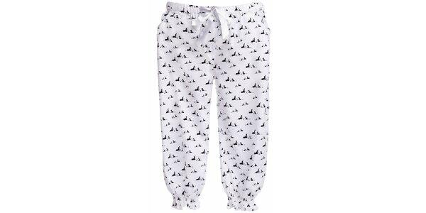 Dámské 3/4 pyžamové kalhoty s potiskem psíků MaybeBlu