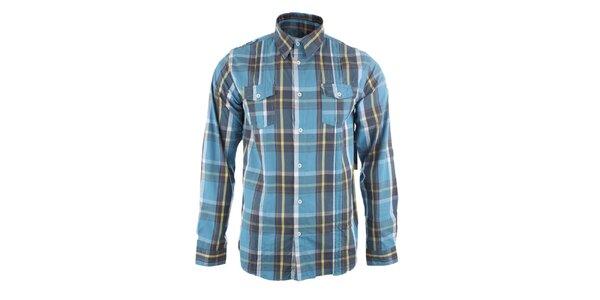 Pánská tyrkysová kostkovaná košile Authority