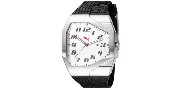 Pánské stříbrné hranaté hodinky Puma 921954b78e