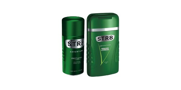 STR8 Deodorant spray Adventure 150 ml+STR8 Adventure sprchový gel 250ml