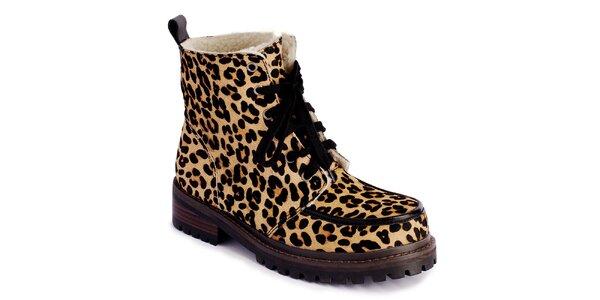 Dámské šněrovací boty s leopardím vzorem Lola Ramona