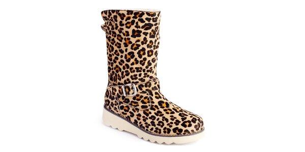 Dámské kozačky se vzorem leopardí kůže Lola Ramona