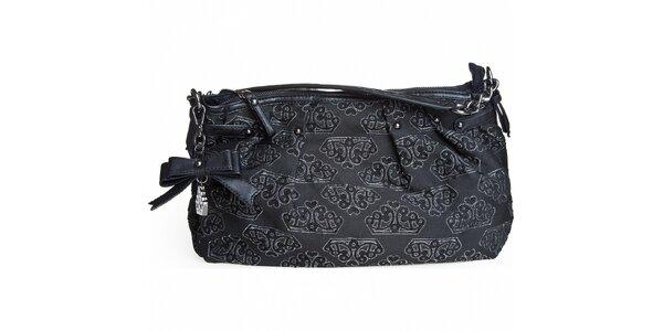 Dámská černá kabelka Fornarina s výšivkou
