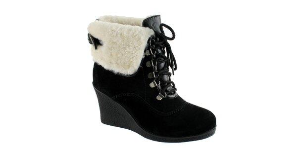 Dámské černé kotníkové boty s beránkem Lola Ramona