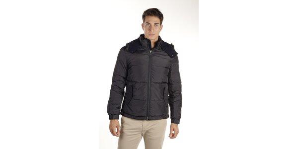 Pánská tmavě modrá bunda s kapucí Armata di Mare