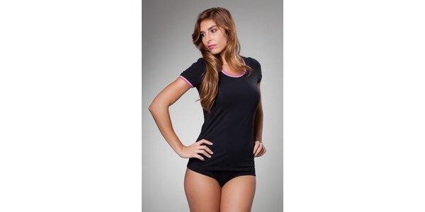 Dámské černé podvlékací tričko Frankie Morello
