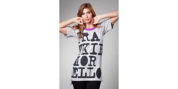 Dámské šedé maxi tričko Frankie Morello