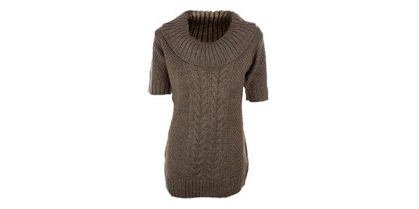 Dámský hnědo-béžový svetr s příměsí vlny Emoi