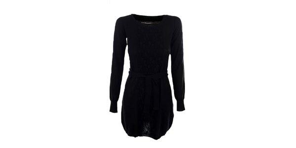 Dámské černé šaty Emoi s páskem