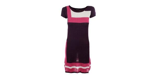 Dámské fialovo-růžové úpletové šaty Emoi