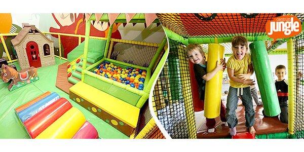 Vstupy pro dítě a dospělého do herního Centra Jungle