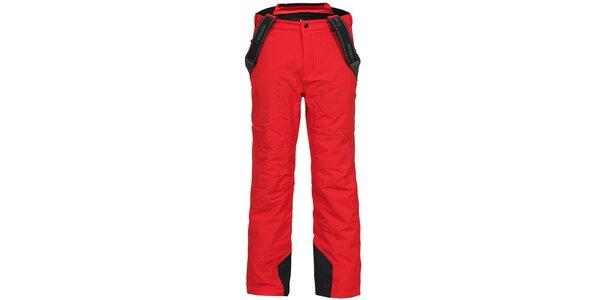 Pánské červené lyžařské kalhoty se šlemi Bergson