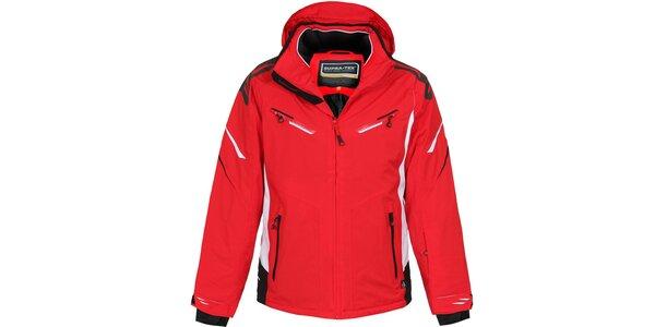 Pánská delší červená lyžařská bunda Bergson