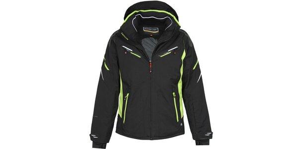 Pánská delší černá lyžařská bunda Bergson