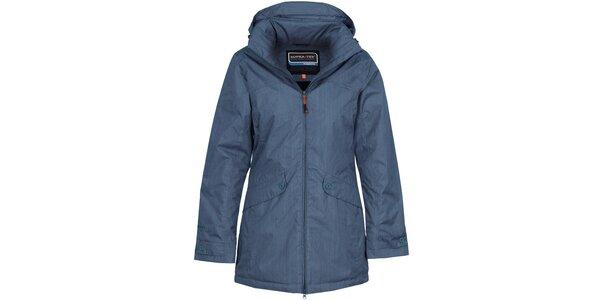 Dámský denimově modrý nepromokavý kabát Bergson