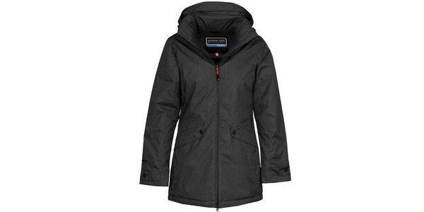 Dámský černý nepromokavý kabát Bergson