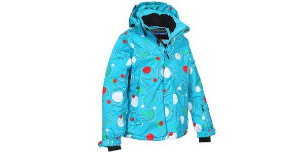 Dětská tyrkysová bunda s bublinami Bergson