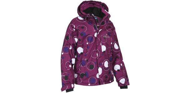 Dětská fialová bunda s bublinami Bergson