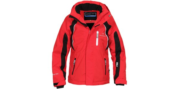 Dětská červeno-černá lyžařská bunda Bergson
