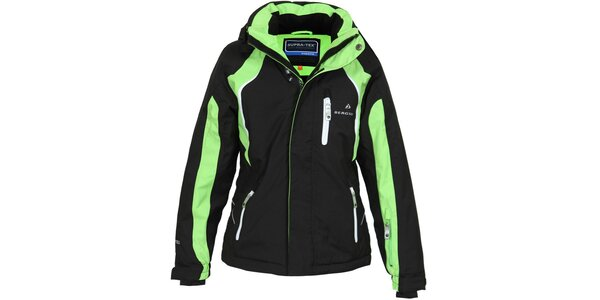 Dětská černo-zelená lyžařská bunda Bergson