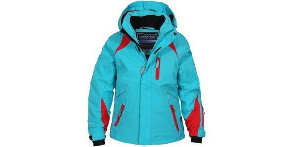 Dětská modro-červená lyžařská bunda Bergson