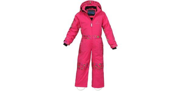 Dětská růžová funkční lyžařská kombinéza Bergson
