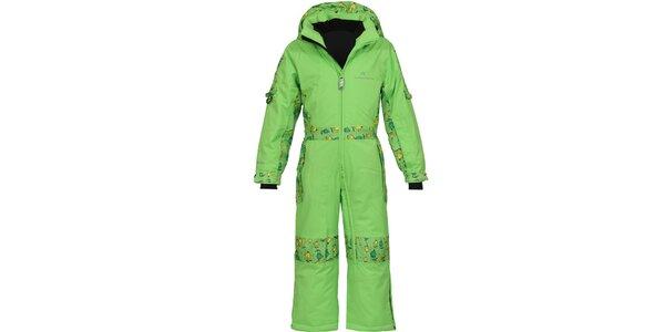 Dětská zelená funkční lyžařská kombinéza Bergson