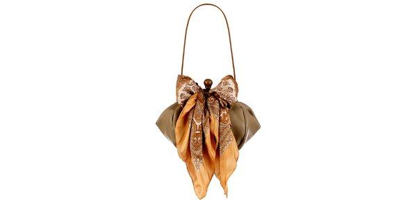 Dámská velbloudí kožená kabelka s šátkem Liedownithinkiloveyou