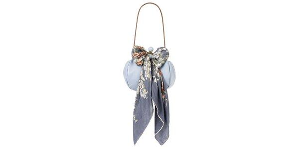 Dámská levandulová kožená kabelka s šátkem Liedownithinkiloveyou