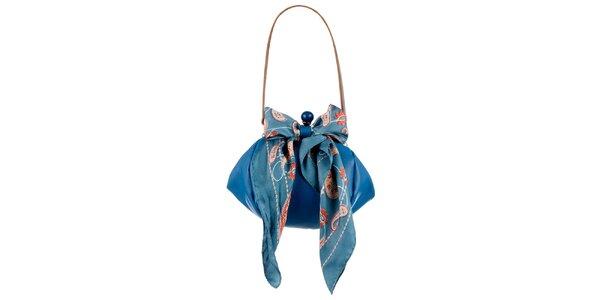 Dámská tyrkysová kožená kabelka s šátkem Liedownithinkiloveyou