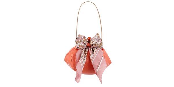 Dámská lososová kožená kabelka s šátkem Liedownithinkiloveyou