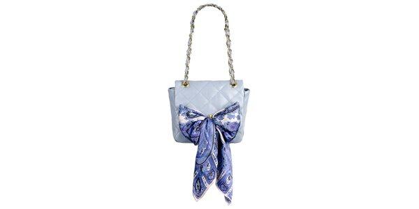 Dámská malá levandulová prošívaná kabelka s šátkem Liedownithinkiloveyou