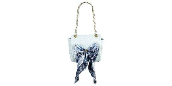 Dámská malá světle modrá prošívaná kabelka s šátkem Liedownithinkiloveyou