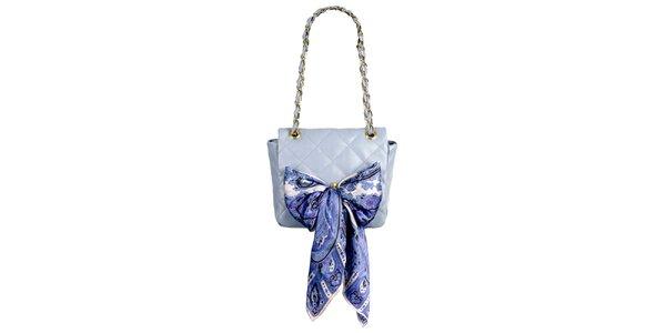 Dámská levandulová prošívaná kabelka s šátkem Liedownithinkiloveyou