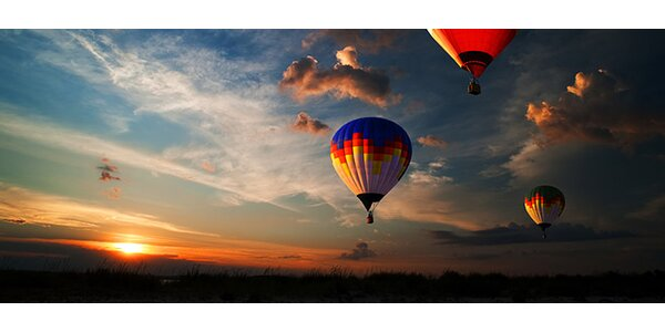 60minutový let v balonu - povznášející dárek!