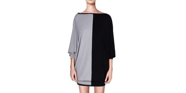 Dámské černo-šedé šaty Yuliya Babich