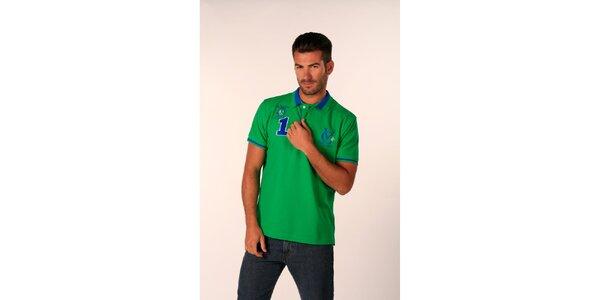Pánské svítivě zelené polo tričko Valecuatro
