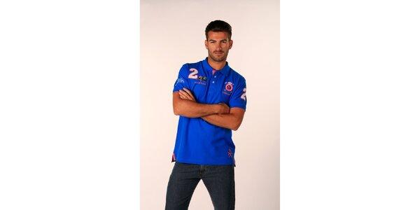 Pánské svítivě modré polo tričko Valecuatro